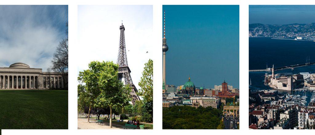 Photos of international landmarks