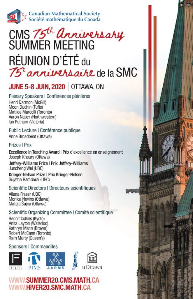 CMS Summer Meeting Poster