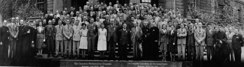 Photo of participants of 1945 Canadian Mathematical Congress