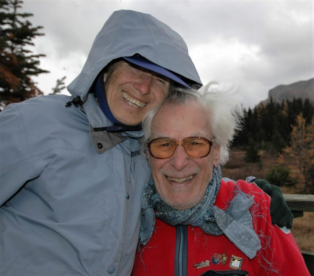 Richard and Louise at Assiniboine Lodge in British Columbia on Richard's 90th birthday