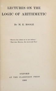 Title Page of Lectures