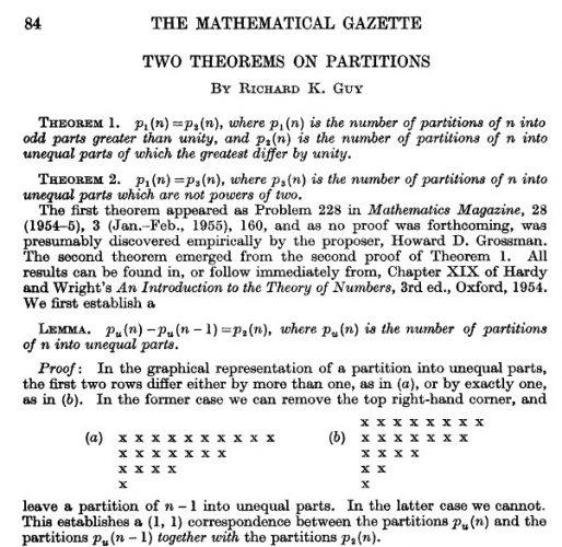 Le premier article théorique de Richard, paru en 1958